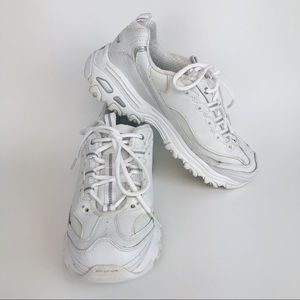 Skechers D'Lites White Training Sneakers Size 8M